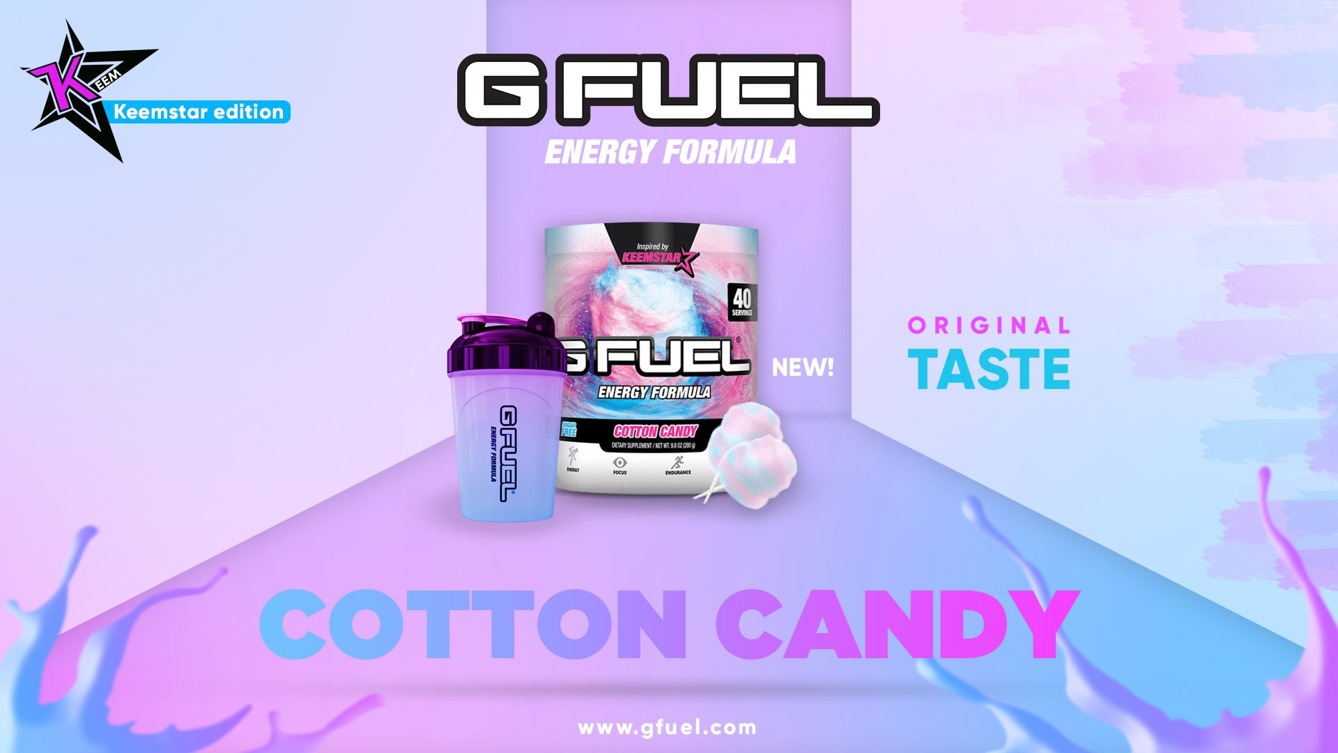 Gfuel Cotton Candy - Advertisement